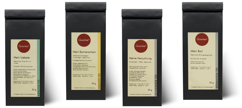 Quertee® Nr. 24 - Tee Geschenkset - 4 x 50 g -