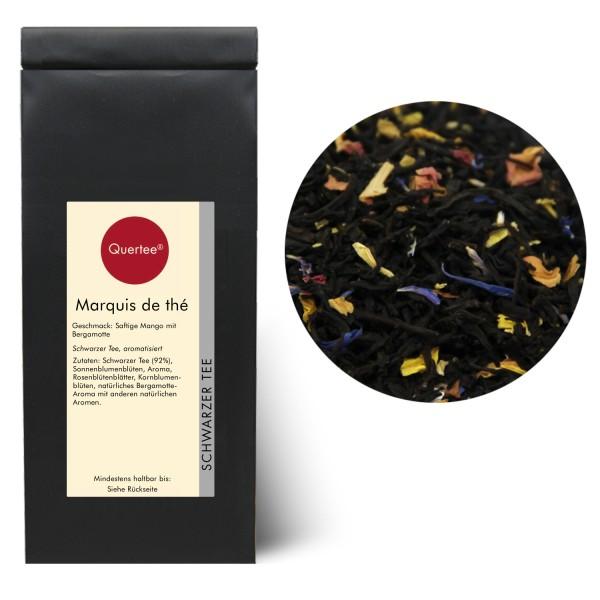 Schwarzer Tee - Marquis de thé (de gries) - Earl Grey Mango und Bergamotte