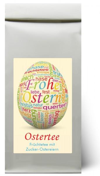 Ostertee - Früchtetee zu Ostern mit Zucker Ostereiern