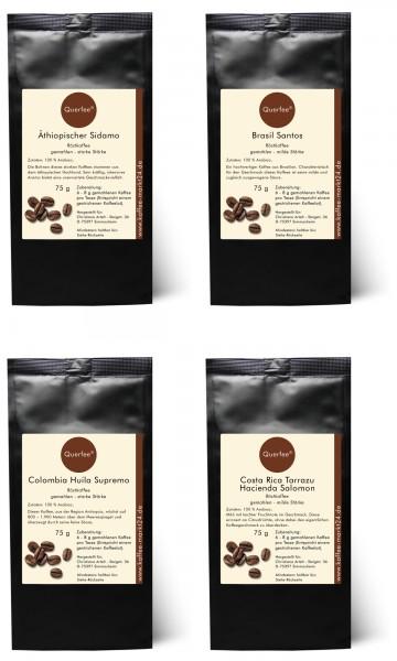 4 x Kaffee als Kaffee Set - Plantagenkaffee Röstkaffee - 4 x 75 g