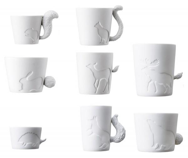 Mugtails - Komplett - Eichhörnchen, Katze, Hase, Reh, Elch, Bär, Igel, Fuchs