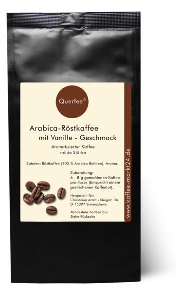 Vanille - Arabica Röstkaffee mit Vanille Geschmack - gemahlen