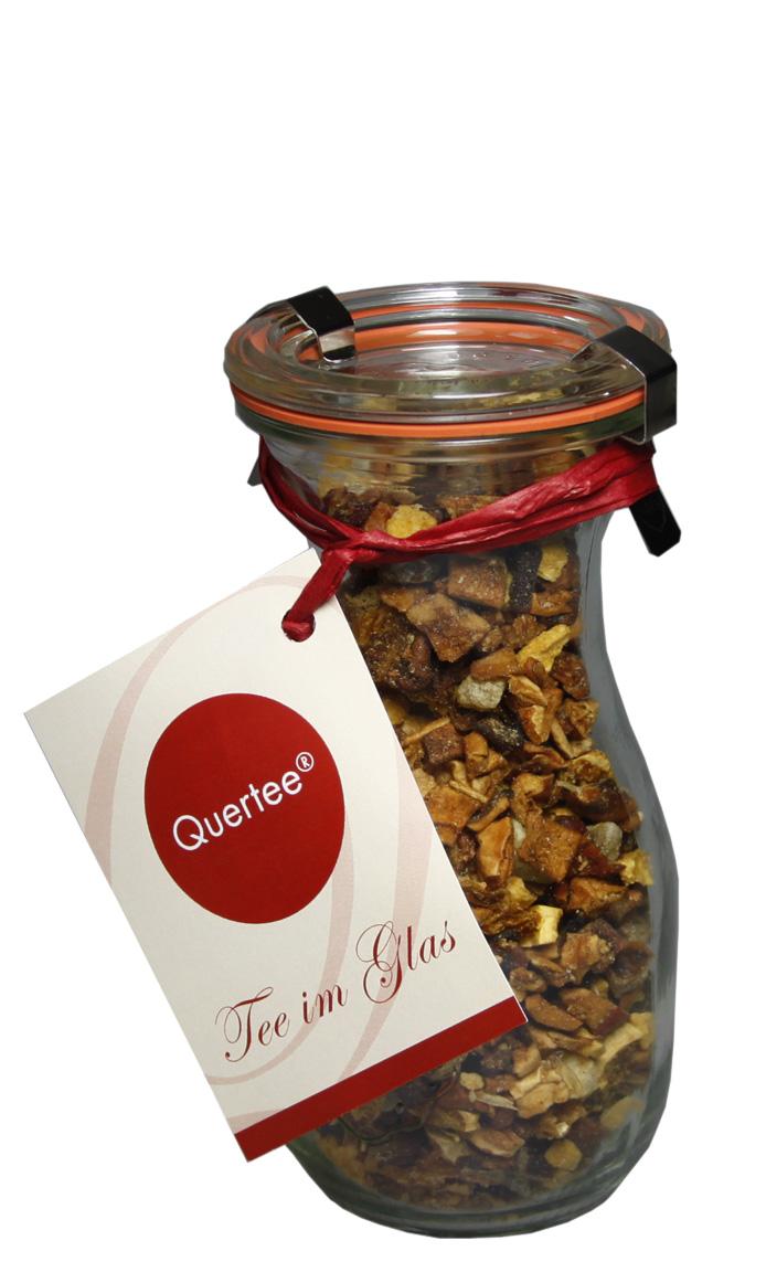 """Tee im Glas - Früchtetee - """"Birne Ingwer"""" in einer Weck Flasche - 120 g Tee"""