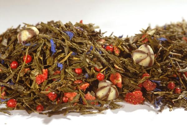 "Grüner Tee - Sencha ""Erdbeere Trüffel"""