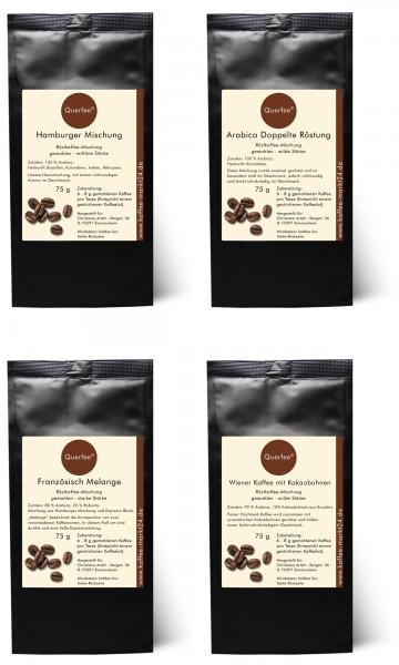 4 x Kaffee als Kaffee Set - Kaffeemischungen - 4 x 75 g