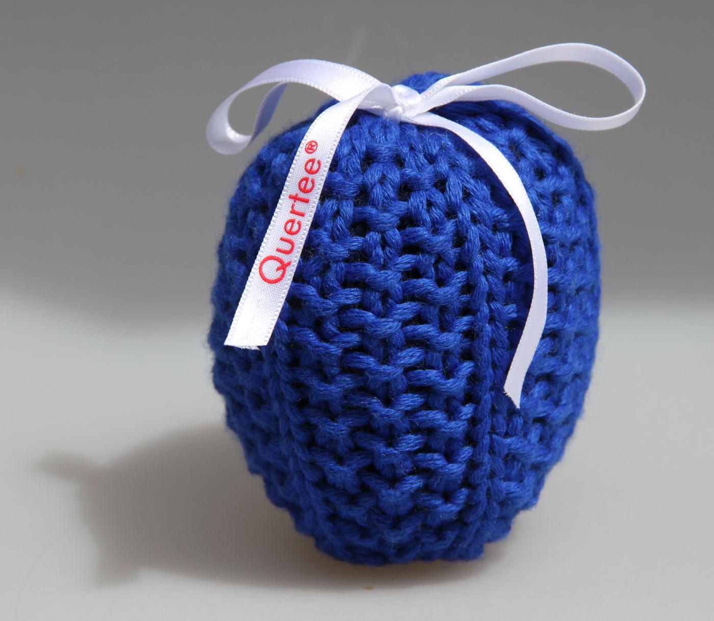 Blaues Lavendelsäckchen liebevoll gestrickt. Gefüllt mit echtem französichem Lavendel - 10 g von Quertee®