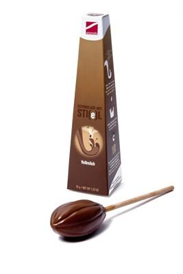 Schokolade am Stiel - Vollmilch - Trinkschokolade