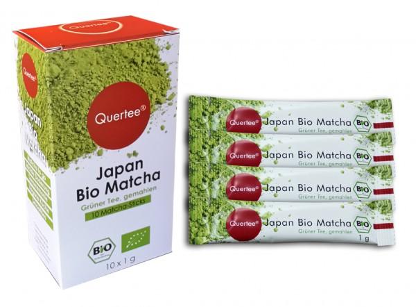 Japan Bio Matcha Tee als Matcha Sticks - 10 x 1 g von Quertee®