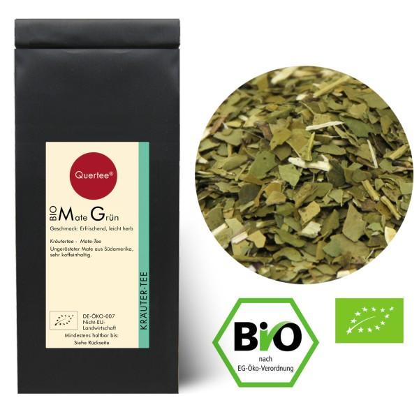 Mate Tee Bio - Ungeröstet | Grüner Bio Matetee | Koffeeinhaltig | Mate Yerba Mateblätter |