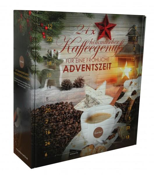 Kaffee Adventskalender mit 24 x verschiedenen Kaffee - Aromatisiert