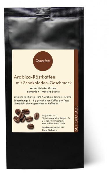 Schokolade - Arabica Röstkaffee mit Schokoladen Geschmack - gemahlen