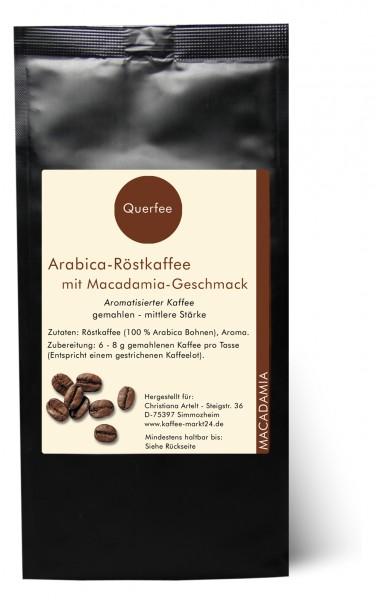 Macadamia - Arabica Röstkaffee mit Macadamia Geschmack - gemahlen