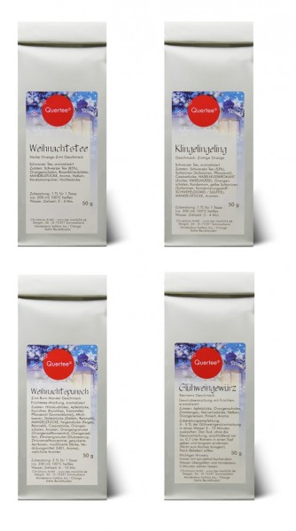 Geschenkset - Wintertee Weihnachtstee Quertee® Nr. 22 - 4 x 50 g Tee