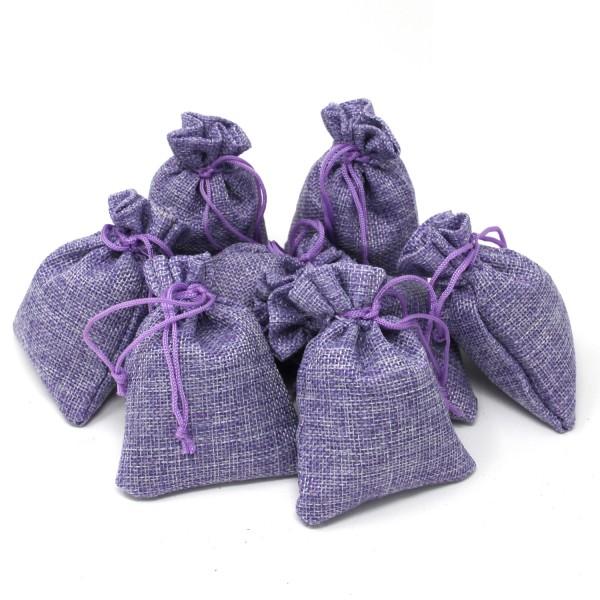 8 x Lavendelsäckchen aus Leinen, mit je 15 g echtem französischen Lavendel