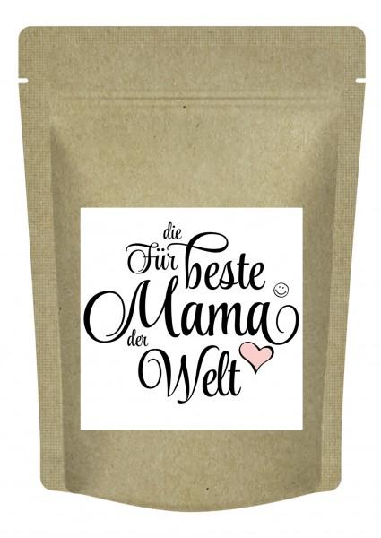 """""""Für die beste Mama der Welt"""" - Tee zum Muttertag / Geburtstag mit Mango-Maracuja-Geschmack - 70 g"""