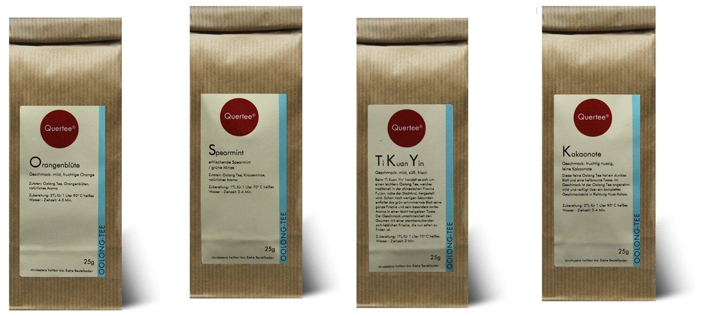 Probierset Oolong Tee Quertee® Nr. 8 - 4 x 25 gramm