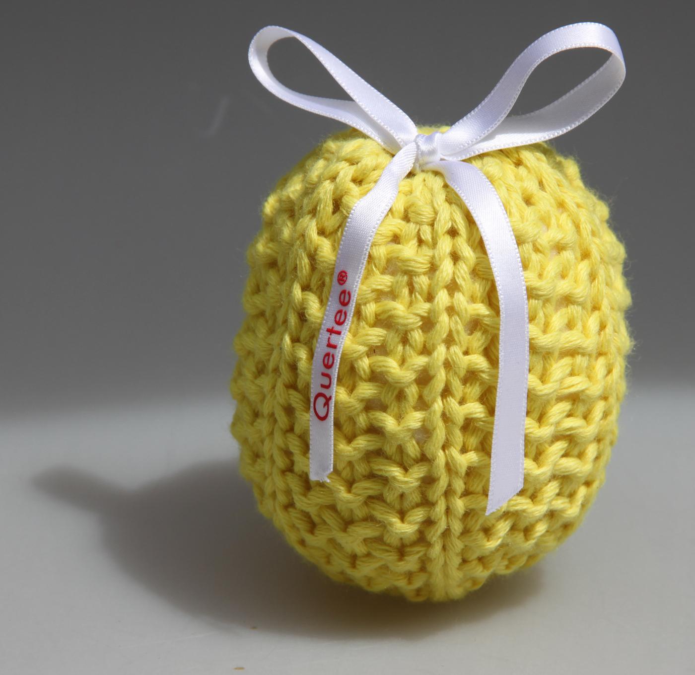 Gelbe Lavendelsäckchen liebevoll gestrickt. Gefüllt mit echtem französichem Lavendel - 10 g von Quertee®