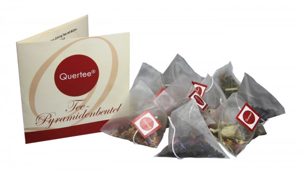 Tee Pyramidenbeutel für den Adventskalender - 24 x mit 4 verschiedenen Teesorten
