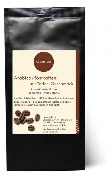 Toffee - Arabica Röstkaffee mit Toffee Geschmack - gemahlen