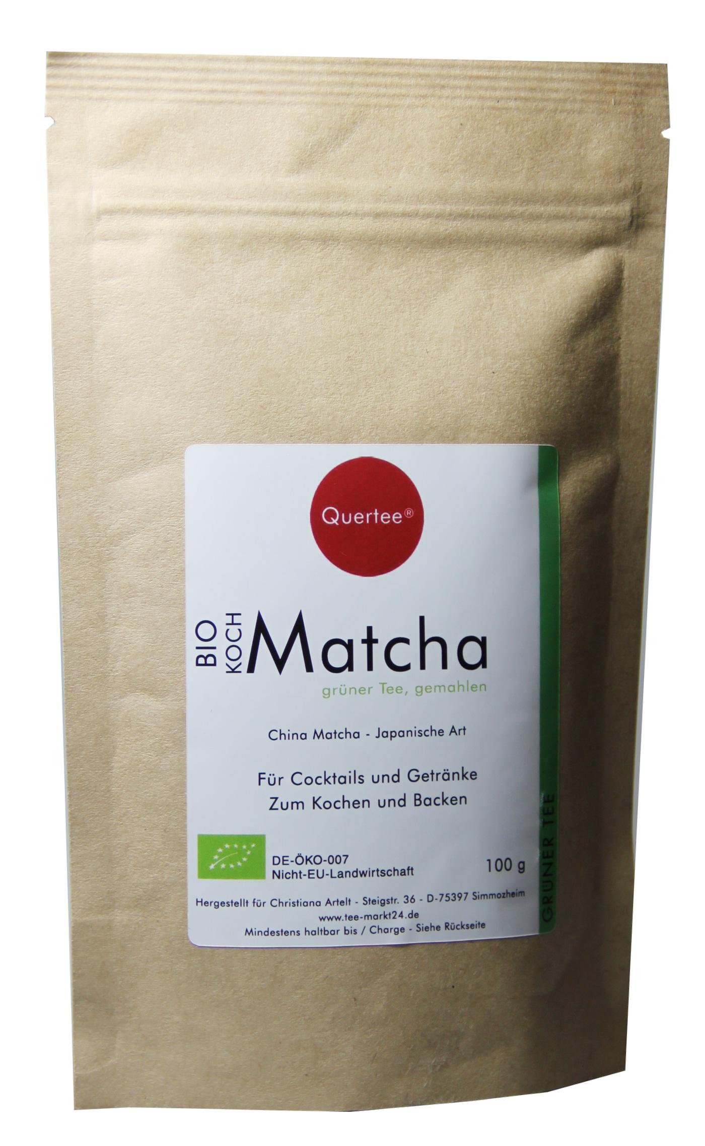 Bio - Kochmatcha - 100 g im Zip-Beutel zum Kochen, Backen, Cocktails von Quertee®