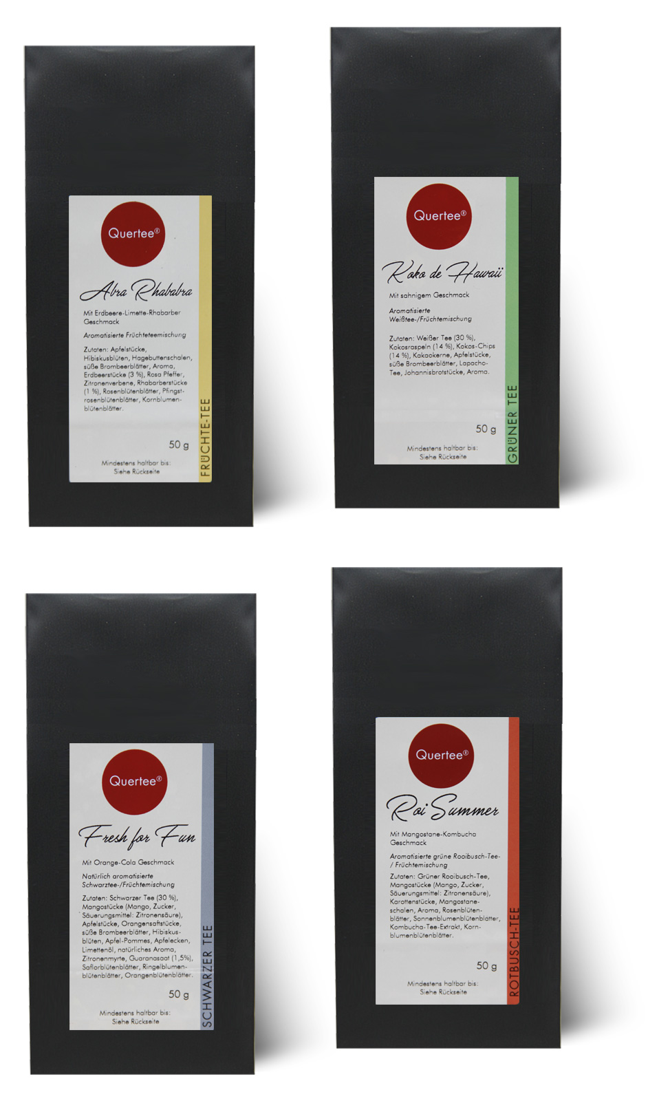 4 x Eistee für die heißen Sommer Tage - Tee im Sommer - 4 x 50 g