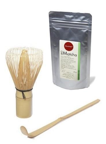 Macha Set - Japan Original Matcha - Bio - 40 g PLUS Matcha Besen PLUS Matcha Löffel