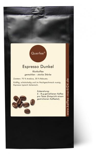 Espresso dunkel - Ganze Bohne