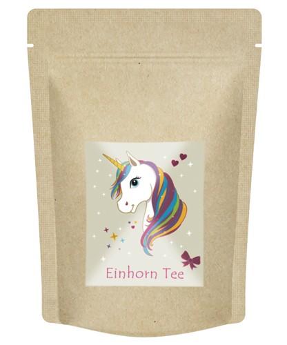"""Früchtetee - """"Einhorn Tee"""" fruchtig süßer Einhorntrank im Zip Beutel - 70 g"""