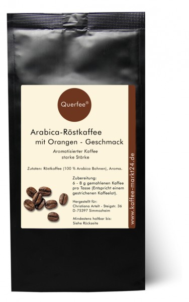 Orange - Arabica Röstkaffee mit Ograngen Geschmack - gemahlen