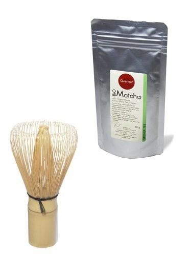 Japan Original Matcha - Bio - 40 g im Alu-Zip-Beutel PLUS Japan Matcha Besen