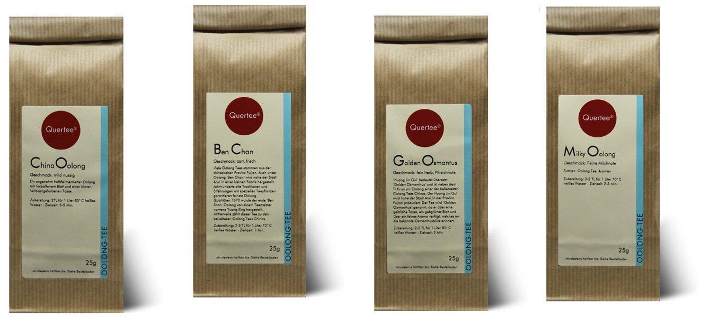 Probierset Oolong Tee Quertee® Nr. 9  - 4 x 25 gramm