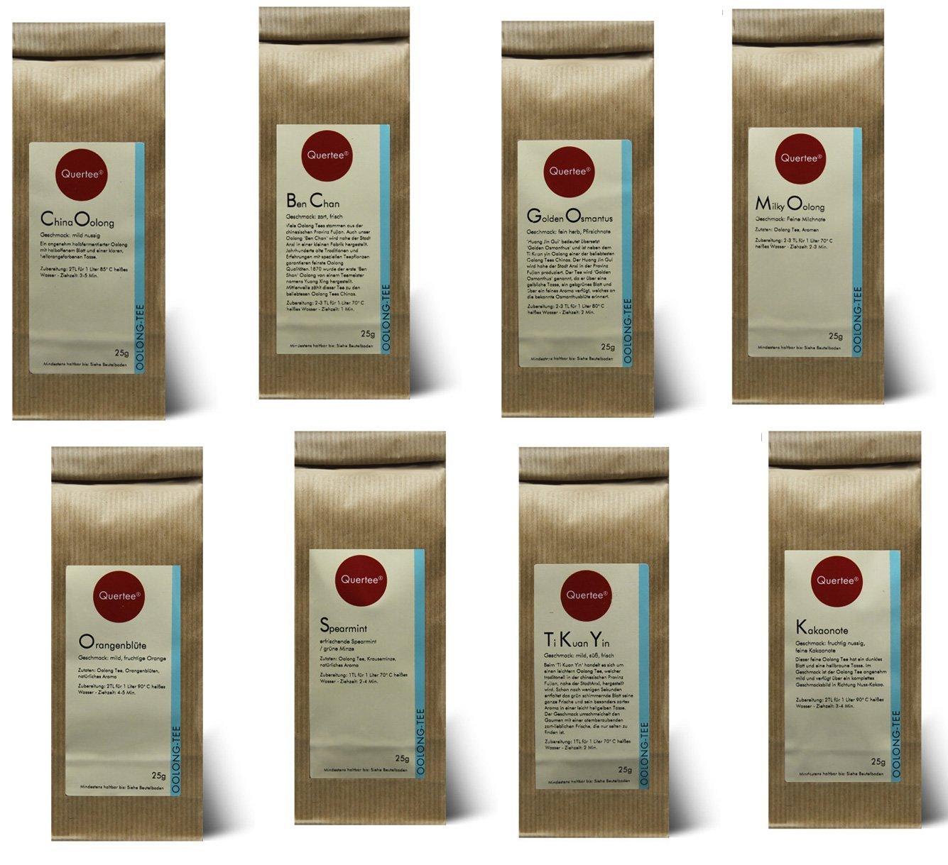 Probierset Oolong Tee Quertee® Nr. 6 - 8 x 25 gramm