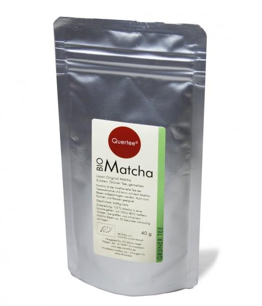 Japan Original Matcha - Bio - 40 g im Alu-Zip-Beutel von Quertee®
