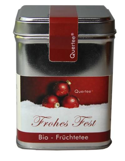 """Bio Früchtetee """"Frohes Fest"""" Weihnachtstee in der Teedose - 100 g"""