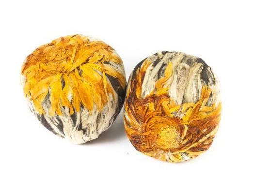 Golden Fortune Balls - Grüner Tee - Teeblume