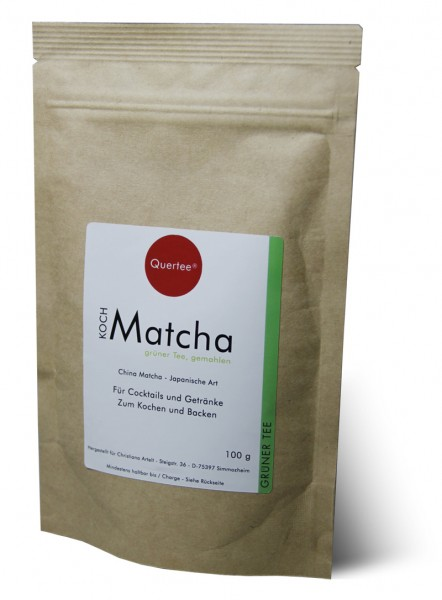 Kochmatcha - 100 g im Zip-Beutel zum Kochen, Backen, Cocktails von Quertee®
